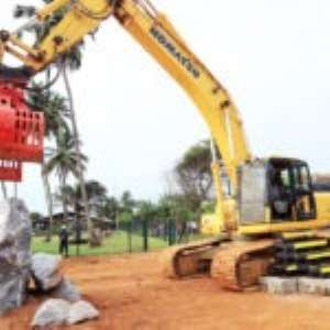 Axim Sea Defence Wall Project Begins