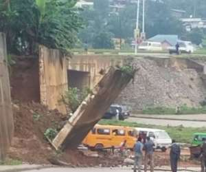 10-Meter Wall Collapses At Sofoline Interchange Project