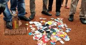 Ashanti NPP Serial Callers Burn Phones In Protest Of Poor Treatment