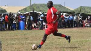 George Weah: Former World Player Of The Year Plays For Liberia, Aged 51