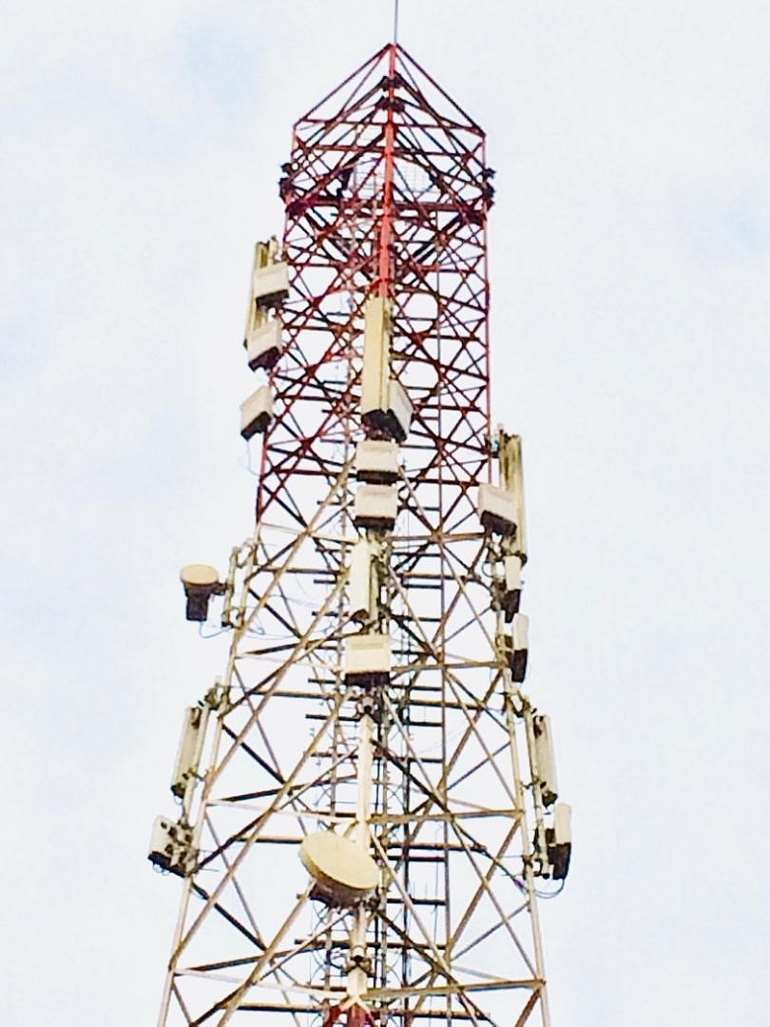 Fig 1. A Telecom Mast with associated Telecom Equipment