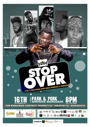 Koo Ntakra To Kick Start 'Stop Over Tour' With Friends On Sept. 16th