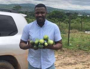Ghanaian actor, John Dumelo Already Making Money from Cucumber Farm