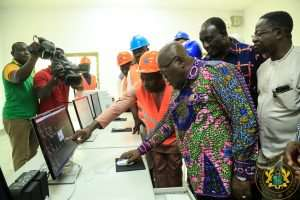 Akufo-Addo Visits 1D, 1F Project In Gomoa West