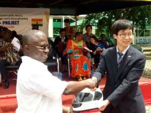 Upper East: KOICA Presents Tricycle Ambulances To GHS