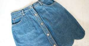 A simple do-it-yourself to renew your denim skirt