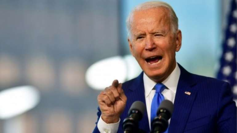 Democratic presidential nominee and former Vice-President Joe Biden delivers remarks regarding the Supreme Court at the National Constitution Center in Philadelphia, Pennsylvania, US, 20 September 2020 - Copyright: REUTERS