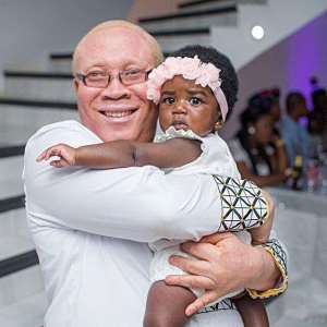 In-law Moses Foh-Amoaning Cuddles Sark's Cute Daughter