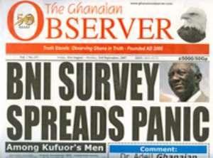 BNI survey causes panic among Kufuor's men