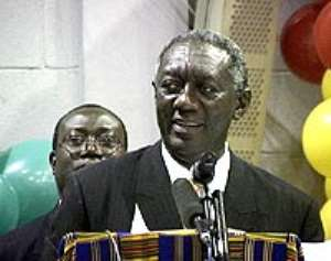President Kufuor arrives in Japan for TICAD IV