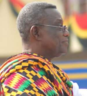Atta-Mills Drinks Libyan Coffee