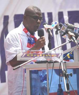 Mr Peter Mac-Manu, out-going National Chairman of the New Patriotic Party