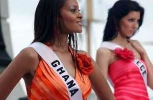 One of the beauty pagent contestants - Miss World Universe, Menaye Donkor, Miss Ghana 2004