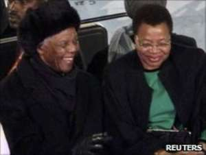 Nelson Mandela attended the ceremony with his wife, Graca Machel