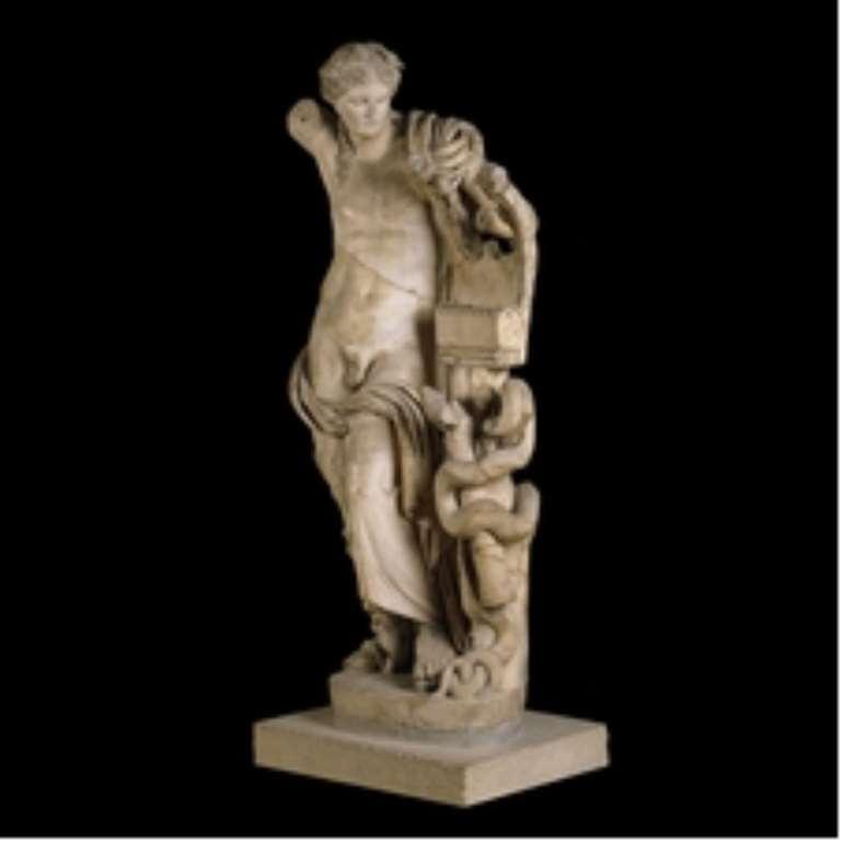 Marble Statue Apollo, Cyrene, Libya, now in British Museum, London, United Kingdom.