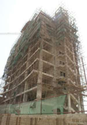 AMA attempts to pull down  13-storey building at Shiashie