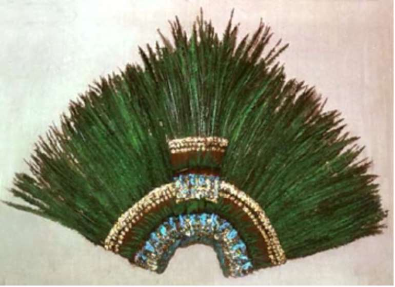 Montezuma's Crown, Mexico, now in Völkerkunde Museum, Vienna, Austria