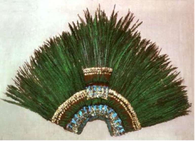 Montezuma's Crown, Mexico, now in Völkerkunde Museum, Vienna, Austria