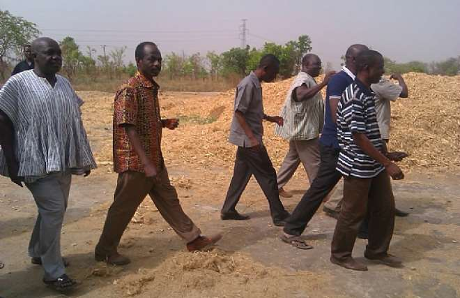 MR. JOHNSON ASIEDU NKETIAH AND SOME REGIONAL DIRECTORS WHO TOURED THE FARMS FOR THE DOCUMENTARY