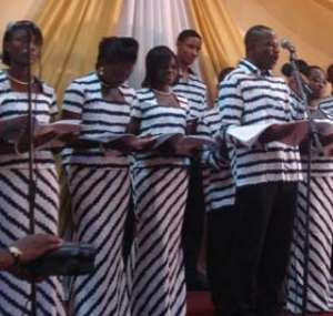 The Harmonious Chorale on stage