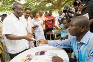 President Mills voting in 2008