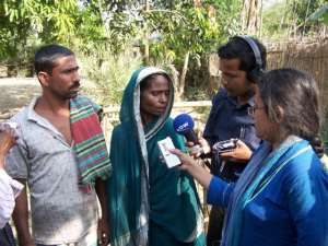 When I was working for DW-Radio German as a freelancer from Bangladesh then I was taking an interview.