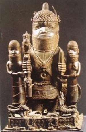 Oba Akenzua I, Benin, Nigeria, Ethnologisches Museum, Berlin ,Germany