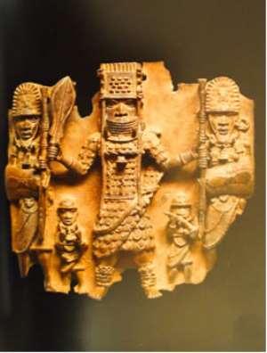 Oba Ozolua and his retainers, Benin, Nigeria, now in Völkerkunde Museum, Vienna, Austria.