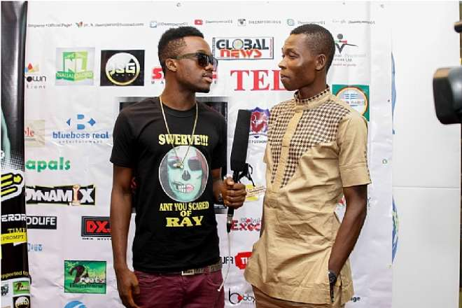 OGBC'S ON AIR PERSONALITY, ADENEYE SAMUEL ON THE RED CARPET