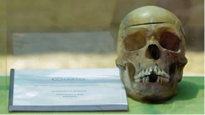 ONE OF THE 20 SKULLS SENT FROM BERLIN TO WINDHOEK