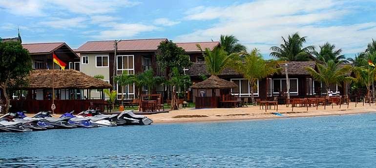 A view of Aqua Safari, a tourist destination at Accra