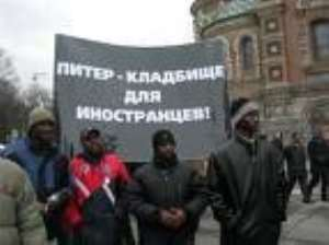 Africans 'under siege' in Moscow