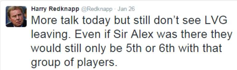 Harry Redknapp tweet