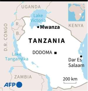Map of Tanzania.  By Alain BOMMENEL (AFP)