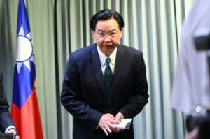 Taiwan Foreign Minister Joseph Wu tendered his resignation after Burkina Faso became the latest country to cut ties with the island.  By SAM YEH (AFP/File)