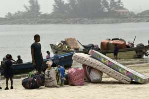 Tarkwa Bay is the 24th community in the area that has received eviction orders as part of the broader operation.  By PIUS UTOMI EKPEI (AFP)
