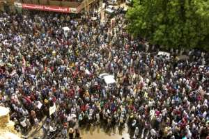 Tens of thousands took to the streets for Sunday's