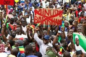 Thousands gathered in Bamako's central square on Friday to celebrate Keita's ouster.  By ANNIE RISEMBERG (AFP)