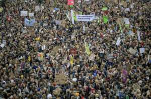 Thousands of climate protesters crowded the centre of Hamburg.  By Axel Heimken (dpa/AFP)