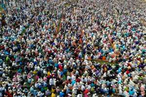 Thousands of Muslims in Bangladesh attend a prayer session amid concerns over the spread of the COVID-19 novel coronavirus.  By  (AFP)