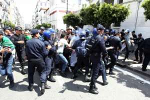 Thousands of students protested in the capital Algiers on Tuesday. By - (AFP)