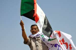 Thousands of Sudanese demonstrators have been demonstrating for weeks outside army headquarters to demand a transition to civilian rule. By ASHRAF SHAZLY (AFP)