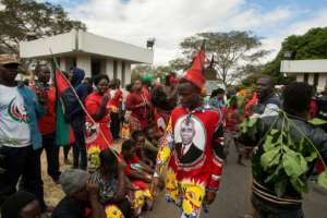 Thousands of supporters of Malawi Congress Party (MCP) Leader Lazarus Chakwera took to the streets this week.  By AMOS GUMULIRA (AFP)