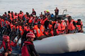 Thousands of people have died trying to cross the Mediterranean to Europe.  By Hermine POSCHMANN (Mission Lifeline/AFP/File)
