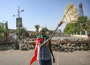 Thousands of protesters began massing outside Sudan's military headquarters in early April.  By OZAN KOSE (AFP)