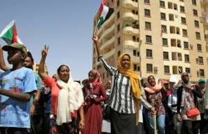 Thousands of protesters have been camped outside the Sudanese headquarters of the armed forces in Khartoum since April 6, demanding the military hand over power to civilian rule. By Ebrahim Hamid (AFP)