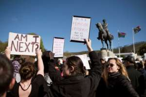 Thousands of women have held two days of protests in Cape Town, scene of two recent high-profile murders of young women, to highlight the growing level of gender violence in South Africa.  By RODGER BOSCH (AFP/File)