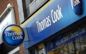 Thomas Cook said it was 'deeply saddened' by the deaths of a British couple at a hotel in Egypt.  By PAUL ELLIS (AFP/File)