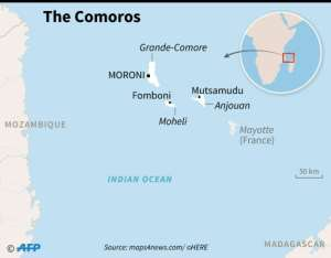 Ranking of the Comoros and a selection of countries in the Southern African Development Community, on human development, 'good governance', GDP per person, freedom of the press and corruption..  By Cecilia SANCHEZ (AFP)
