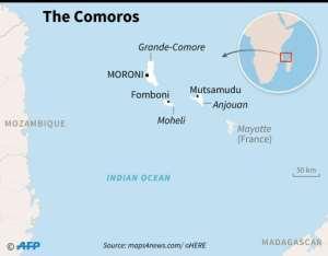 Map of the Comoros archipelago..  By Kun TIAN (AFP)